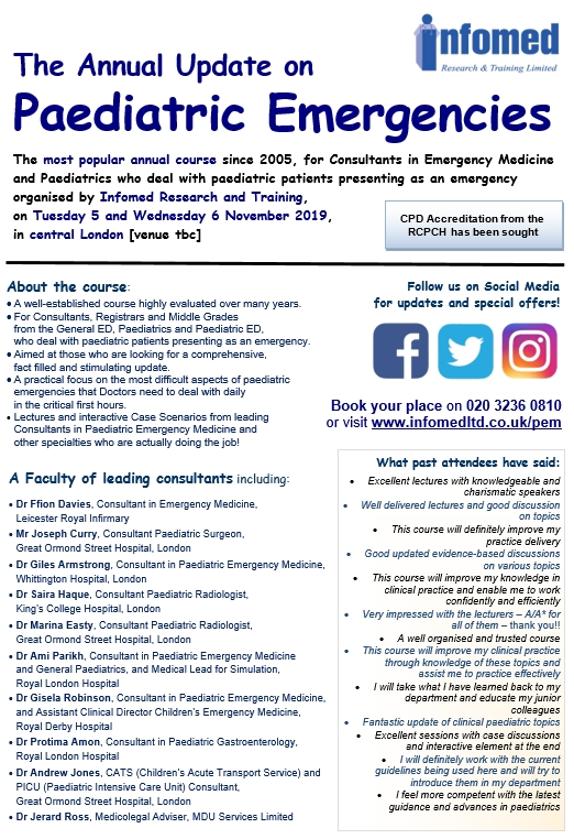 All forthcoming courses | Infomed Research & Training Limited